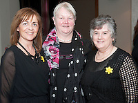 Something to sing about singers Cathriona Curran, Bernie Conneelly, and Donna Lally  who took part in the Choir Factor 2014 in the Radisson blu Hotel, Galway in aid of SCCUL Sanctuary at Kilcuan, Clarinbridge . Photo:Andrew Downes.