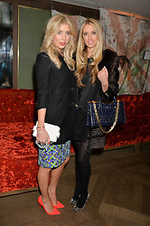 Left to right, MISSY McKEE and ZOE ONIONS at a reception to launch an exclusive auction of hand-painted silk scarves by some of the UK's hottest designers in aid of Save The Children by Mary's Living & Giving shops, held at the May Fair Hotel, Stratton Street, London on 12th February 2014,