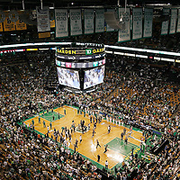 01 June 2012:  General view of the TD Garden prior to the Boston Celtics 101-91 victory over the Miami Heat, in Game 3 of the Eastern Conference Finals playoff series, at the TD Banknorth Garden, Boston, Massachusetts, USA.