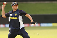 James Pattinson of the Victorian Bushrangers during the Bushrangers training session held at St Georges Park in Port Elizabeth on the 17 September 2010..Photo by: Shaun Roy/SPORTZPICS/CLT20