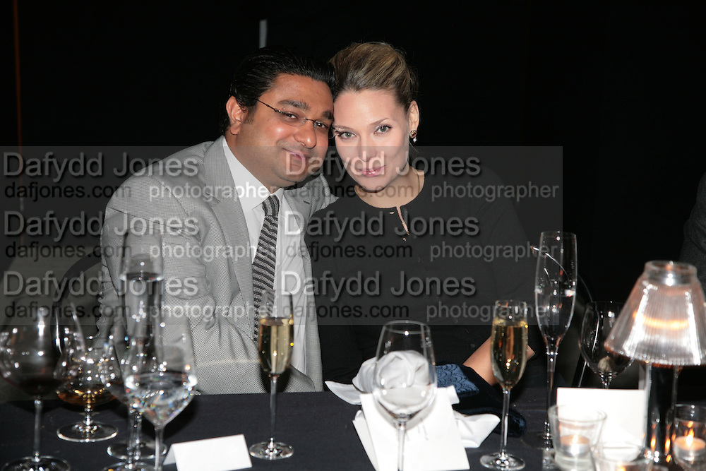 HON ANGAD PAUL AND HON MRS. ANGAD PAUL, Dinner given by Established and Sons to celebrate Elevating Design.  P3 Space. University of Westminster, 35 Marylebone Rd. London NW1. -DO NOT ARCHIVE-© Copyright Photograph by Dafydd Jones. 248 Clapham Rd. London SW9 0PZ. Tel 0207 820 0771. www.dafjones.com.