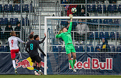 GRÖDIG, AUSTRIA - Tuesday, December 10, 2019: Liverpool's goalkeeper Benjamin Winterbottom makes a save during the final UEFA Youth League Group E match between FC Salzburg and Liverpool FC at the Untersberg-Arena. (Pic by David Rawcliffe/Propaganda)