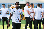 Fulham defender Ryan Sessegnon (3) prior to the the EFL Sky Bet Championship match between Millwall and Fulham at The Den, London, England on 20 April 2018. Picture by Toyin Oshodi.