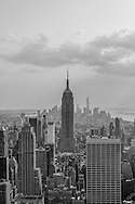 New York CIty Skyline from Rockefeller Center, New York City, New York