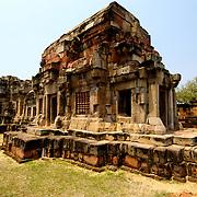 Prasat Hin Phanom Wan Khmer temple at Khorat (Nakorn Ratchasima) in Thailand.  View is March 2007.