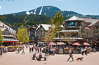 Whistler Village is a fun pedestrian-friendly area for visitors and residents.