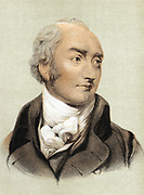 George Canning (1770-1827) English Tory statesman. Prime Minister 1827. Tinted lithograph.