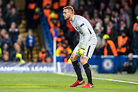 LONDON,ENGLAND - DECEMBER 05: Atletico Madrid (13) GK Jan Oblak during the UEFA Champions League group C match between Chelsea FC and Atletico Madrid at Stamford Bridge on December 5, 2017 in London, United Kingdom.  <br /> ( Photo by Sebastian Frej / MB Media )