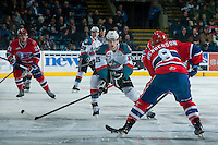 KELOWNA, CANADA - MARCH 7: Tomas Soustal #15 of Kelowna Rockets skates against the Spokane Chiefs on March 7, 2015 at Prospera Place in Kelowna, British Columbia, Canada.  (Photo by Marissa Baecker/Shoot the Breeze)  *** Local Caption *** Tomas Soustal;