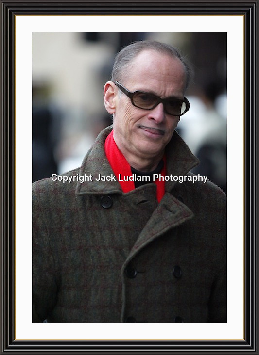 BALTIMORE FILM MAKER JOHN WATERS  STROLLING DOWN PARK LANE LONDON<br />