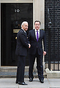 Joe Biden Jr<br /> Vice President of the United States of America and Rt Hon David Cameron MP <br /> Prime Minister <br /> at 10 Downing Street <br /> London Great Britain <br /> 5th February 2013 <br /> <br /> Joe Biden leaving Downing Street after lunch with David Cameron <br /> <br /> Photograph by Elliott Franks