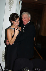 MR RHYDIAN MORGAN-JONES and  LADY ROSE INNES-KER daughter of the 10th Duke of Roxburghe at the 2004 Cartier Racing Awards in association with the Daily Telegraph, held at the Four Seasons Hotel, London on 17th November 2004.<br />