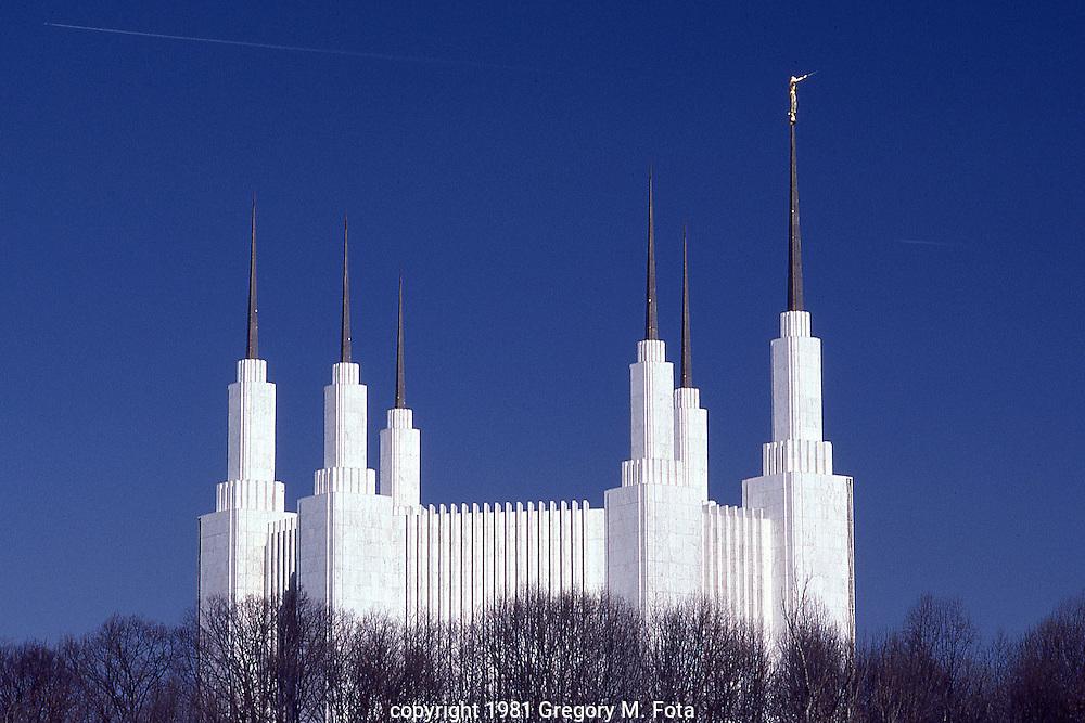 MORMON TEMPLE building, Washington,DC.04151981