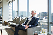 Mark Schmidt of CBRE poses for a portrait at CBRE in San Jose, California, on September 5, 2018. (Stan Olszewski for Silicon Valley Business Journal)