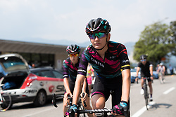 Alena Amialiusik (CANYON//SRAM Racing) coasts along the shore of Lake Maggiorre to the start line at the final stage of the Giro Rosa 2016 on 10th July 2016. A 104km road race starting and finishing in Verbania, Italy.