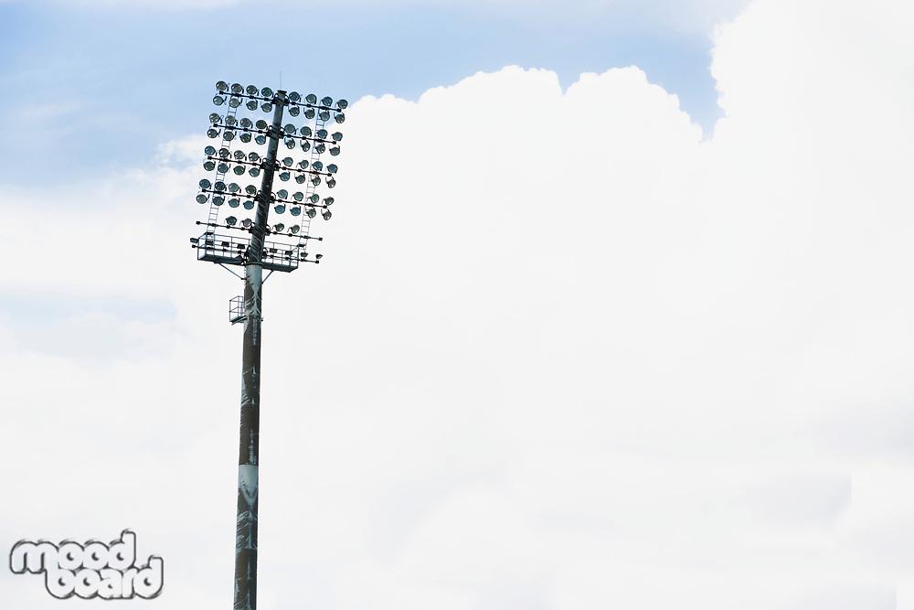 Close up photo of photo of stadium lights