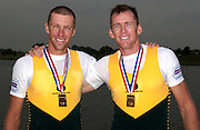 Poznan, POLAND.  2006, FISA, Rowing World Cup the AUS M2-, Bow [right] Drew GINN and Duncan FREE,  'Malta Regatta course;  Poznan POLAND, Sat. 17.06.2006. © Peter Spurrier   ....[Mandatory Credit Peter Spurrier/ Intersport Images] Rowing Course:Malta Rowing Course, Poznan, POLAND