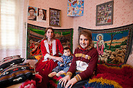 This woman divorced four months later after she married, ten years ago. She lives with her parents and with their kids. Each spring in Mogila, Bulgaria, is celebrated the Gypsy Bride Market. In this festival the virginity is for sale. The honor can be bought. Every girl has a price to be agreed between the parents of the girl and the candidate. The price can range between 1.500 and 10.000€, in a country where the minimum salary is just over 100€. The market joins the Kalajdzii families, known as the thracians tinkerers, whose tradition is still alive. Many girls dress as real princesses, others prefer to dress in a modern way. They dance during hours the ring dance while grandparents and parents watch the way the young interrelate. Many girls dream to be married by the rite imposed by the tradition. Nowadays there are some girls that don't agree with the tradition and would prefer not to marry, although they assist to these market all the times. Divorces and elopements, so far taboo, are becoming everytime more frequent. Beyond the topic, ethnologists, define it as the Kalajdzii's disco, where the family honor is involved in a commercial transaction. This ritual has being celebrated for years, so anthropologists think is not going to change too much in future.