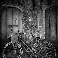 Two bicycles in Ninh Binh, Vietnam.