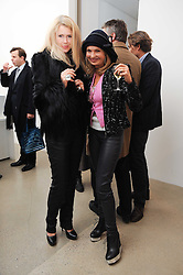 Left to right, KATY BRAIN and MAYA SCHOENBURG at a party to celebrate the publication of Allegra Hick's book 'An Eye For Design' held at he Timothy Taylor Gallery, Carlos Place, London on 23rd November 2010.