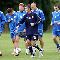 St Johnstone FC Training...18.09.06<br />Owen Coyle puts his players through their paces during training before facing Dundee Utd in tommorow's CIS cup tie.<br />see story by Gordon Bannerman Tel: 01738 553978 or 07729 865788<br />Picture by Graeme Hart.<br />Copyright Perthshire Picture Agency<br />Tel: 01738 623350  Mobile: 07990 594431