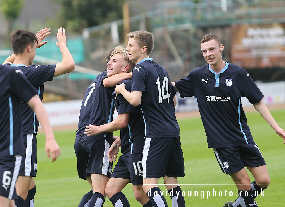 Kyle Clark (number 10) is congratulated after scoring Dundee's second goal - Dundee v Hibs - Little Big Shot Scottish FA Youth Cup<br /> <br /> <br />  - &copy; David Young - www.davidyoungphoto.co.uk - email: davidyoungphoto@gmail.com