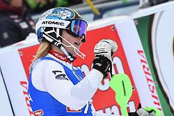 28.12.2017, Hochstein, Lienz, AUT, FIS Weltcup Ski Alpin, Lienz, Slalom, Damen, 2. Lauf, im Bild Denise Feierabend (SUI) // Denise Feierabend of Switzerland reacts after her 2nd run of ladie's Slalom of FIS ski alpine world cup at the Hochstein in Lienz, Austria on 2017/12/28. EXPA Pictures © 2017, PhotoCredit: EXPA/ Erich Spiess