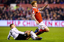 Martyn Waghorn of Derby County fouls Jack Colback of Nottingham Forest - Mandatory by-line: Robbie Stephenson/JMP - 25/02/2019 - FOOTBALL - The City Ground - Nottingham, England - Nottingham Forest v Derby County - Sky Bet Championship