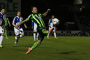 Sean Rigg of AFC Wimbledon in action during the Sky Bet League 2 match between Bristol Rovers and AFC Wimbledon at the Memorial Stadium, Bristol, England on 8 March 2016. Photo by Stuart Butcher.