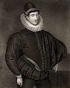 Fulke Greville, 1st Baron Brooke (1554-1628) English poet and statesman. Engraving.