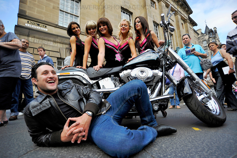 Antony Costa from boy band Blue was on hand with the Foxy Rangers cheerleaders from the show Bloodbath the musical which is on at the Edinburgh festival.  The show is a cross between a quirky rock horror musical and the movie Scream.