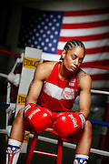 6/24/11 2:38:10 PM -- Colorado Springs, CO. -- A portrait of U.S. Olympic lightweight boxer Queen Underwood, 27, of Seattle, Wash. who will be competing for her fifth title. She began boxing in 2003 and was the 2009 Continental Champion and the 2010 USA Boxing National Champion. She is considered a likely favorite to medal at the 2012 Summer Olympics in London as women's boxing makes its debut as an Olympic sport. -- ...Photo by Marc Piscotty, Freelance.