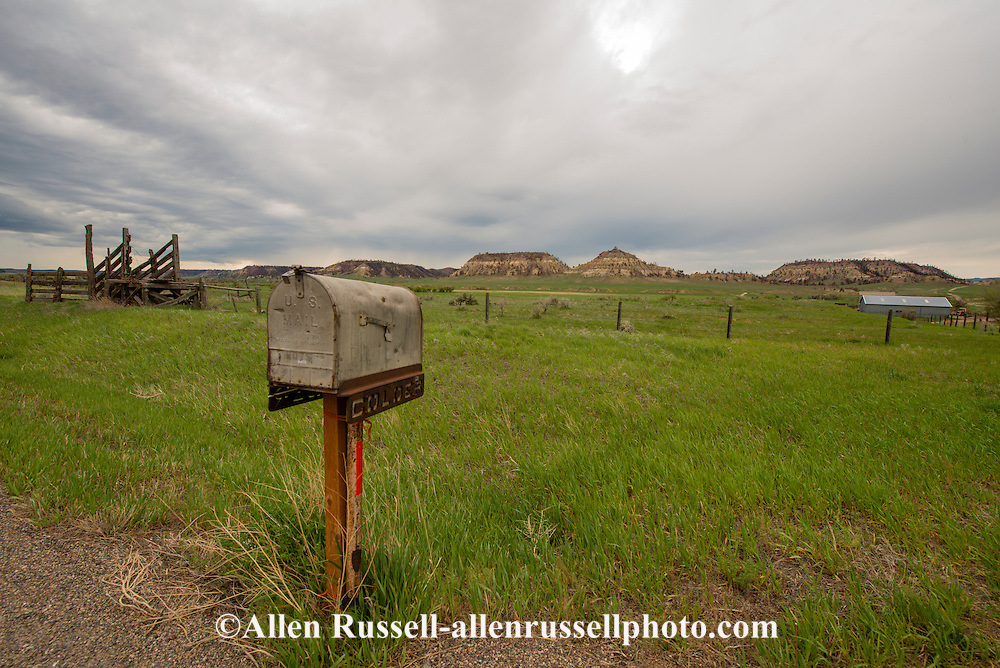 Mailbox, Highway 39, outside Coalstrip, Montana