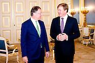 Koning Willem-Alexander ontvangt, de president van de Duitse Bondsraad, Stephan Weil in audiëntie op