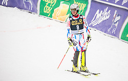 Julien Lizeroux (FRA) reacts in finish area during the 2nd Run of 10th Men's Slalom race of FIS Alpine Ski World Cup 55th Vitranc Cup 2016, on March 6, 2016 in Podkoren, Kranjska Gora, Slovenia. Photo by Vid Ponikvar / Sportida