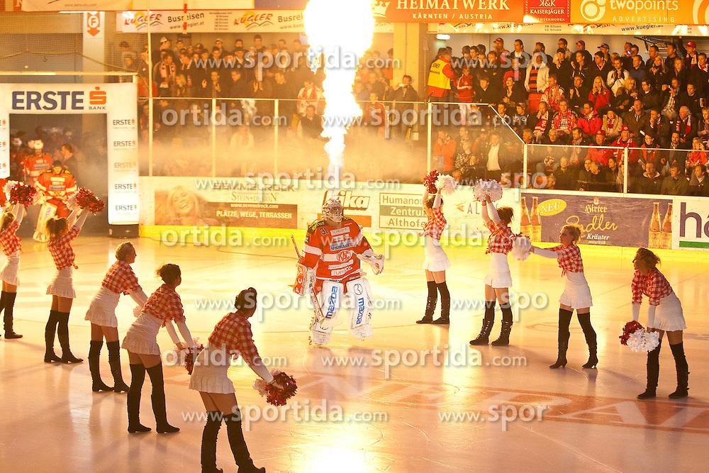 14.04.2011, Stadthalle, Klagenfurt, AUT, EBEL, EC KAC vs EC RED BULL SALZBURG, im Bild Andy Chiodo (Kac, #31), EXPA Pictures © 2011, PhotoCredit: EXPA/ G. Steinthaler
