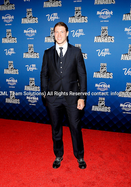 2016 June 22: New York Islanders hockey winger Matt Martin poses for a photograph on the red carpet during the 2016 NHL Awards at the Hard Rock Hotel and Casino in Las Vegas, Nevada. (Photo by Marc Sanchez/Icon Sportswire)