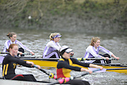 London. Great Britain, Durhan University BC. A, Senior, Penant Winners University,  2010 Women's Head of the River Race, Raced over the reverse Championship Course, Chiswick to Putney, River Thames, England,  Saturday   13/03/2010 [Mandatory Credit. Peter Spurrier/Intersport Images]