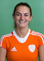 DELFT - Kiki van Wijk. Nederlands zaalhockeyteam dames voor EK in Minsk. COPYRIGHT KOEN SUYK
