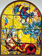 The Tribe of Naphtali. The Twelve Tribes of Israel depicted in stained glass By Marc Chagall (1887 - 1985). The Twelve Tribes are Reuben, Simeon, Levi, Judah, Issachar, Zebulun, Dan, Gad, Naphtali, Asher, Joseph, and Benjamin.
