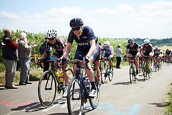 Mieke Kröger (GER) approaches the top of the QoM at OVO Energy Women's Tour 2018 - Stage 2, a 145 km road race from Rushden to Daventry, United Kingdom on June 14, 2018. Photo by Sean Robinson/velofocus.com