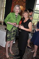 Left to right, The Home Secretary THERESA MAY and ZOE KALIS at a reception for Women in Media hosted by the Prime Minister David Cameron at 10 Downing Street, London on16th May 2013.