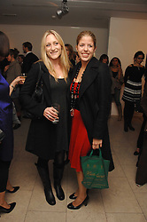 Left to right, LADY ROSE ANSON and the HON.VICTORIA TRYON at the launch of Ecuador: Block 16 a partnership between IWC watches and David De Rothschild held at The Hospital, Endell Street, Covent Garen, London on 8th October 2007.<br />