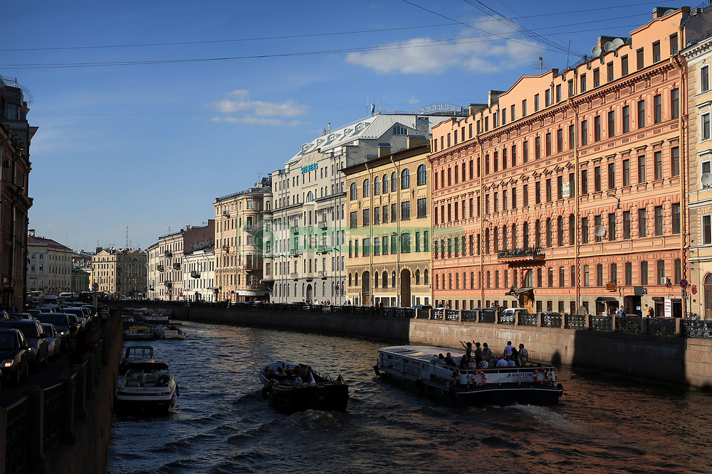 16th June 2017 - FIFA Confederations Cup - Sunlight illuminates buildings lining the Moyka River - Photo: Simon Stacpoole / Offside.