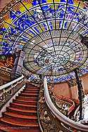 The Stairway to Heaven, Erawan Museum in Samut Prakan, southeast of Bangkok, Thailand.  Commissioned by Lek Viriyapant and the museum houses his priceless collection of ancient religious objects.