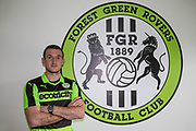 Lee Collins signs for Forest Green Rovers  at the New Lawn, Forest Green, United Kingdom on 18 May 2017. Photo by Shane Healey