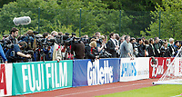 Photo: Chris Ratcliffe.<br />England training session. 06/06/2006.<br />The World's media watches on as England's warm up begins in the mountains of the Black Forest in Buhlertal.