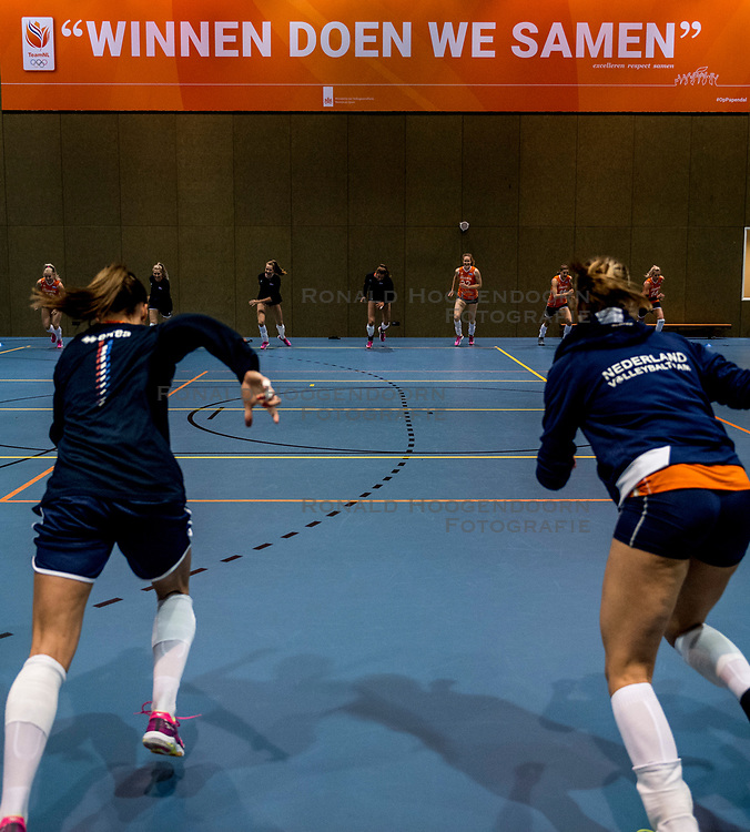 10-05-2018 NED: Training Dutch volleyball team women, Arnhem<br /> Train, train and train