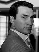 Wladimir Klitschko attends a press conference for his rematch with Lamon Brewster. Las Vegas, Nevada, 5th May 2007.