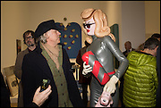 BOB GELDOF AND PANDEMONIA WITH JARVIS COCKER at the Private view for A Strong Sweet Smell of Incense<br /> A Portrait of Robert Fraser, Curated by Brian Clarke. Pace Gallery. 6 Burlington Gardens. London. 5 February 2015.